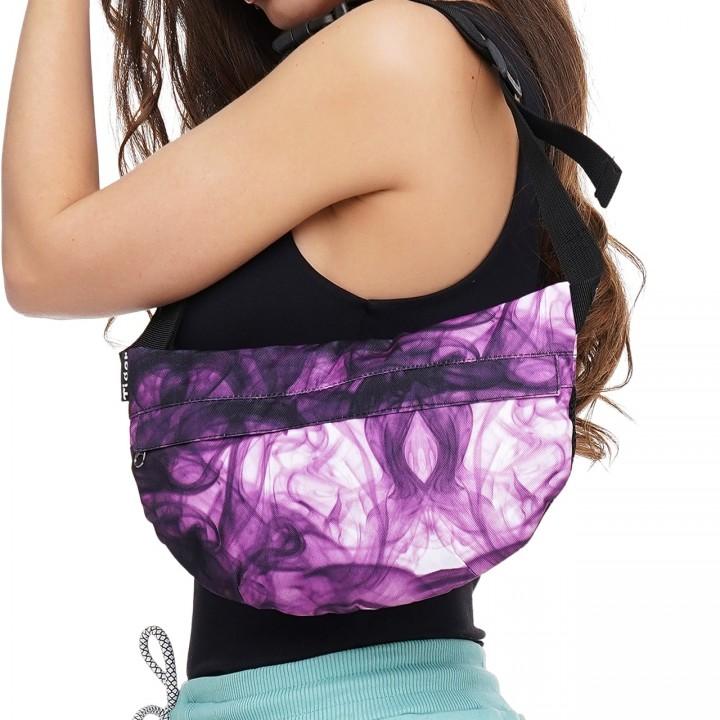 Сумка на пояс Tiger Melon Print Fantasy фиолетовый