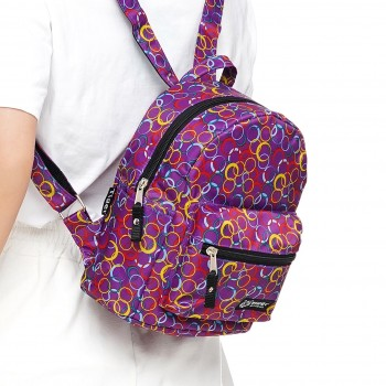 Рюкзак Tiger Mini Print Кружочки фиолетовые