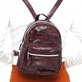 Женский рюкзак Tiger Mini Крокодил бордо